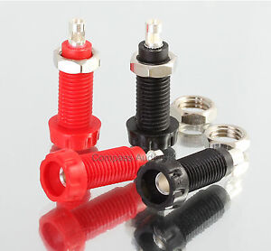 4-Deltron-PANEL-SOCKETS-for-4mm-Banana-Speaker-Plug-Connectors-Red-Black
