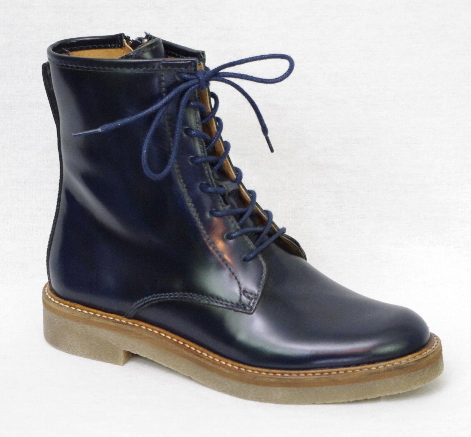 7a34051ae0dc46 KICKERS OXFORDO Bottines Boots cuir bleu marine femme 512110 5 | eBay