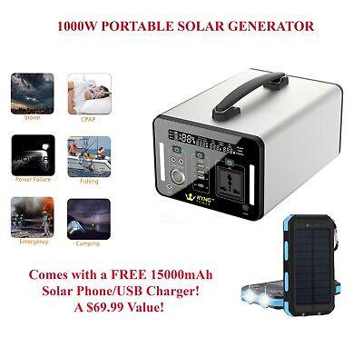 Kyng Power Solar Generator 1000wh 1500w Peak Portable Power Station Brand New 1