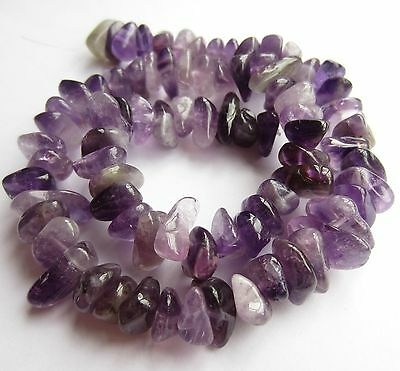 "Amethyst nugget beads 9-15mm. Full 15.5"" strand (approx 80 beads) SP129"