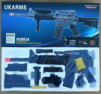 Airsoft Gun Ukarms M3081A AEG Auto Automatic Electric Rifle Laser 6mm BB BBs