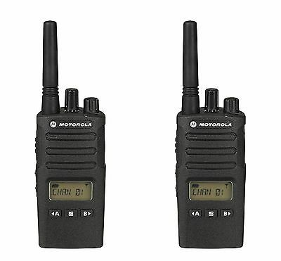 2 Motorola Rmu2080d Uhf Business Two-way Radios. Construction Manufacturing
