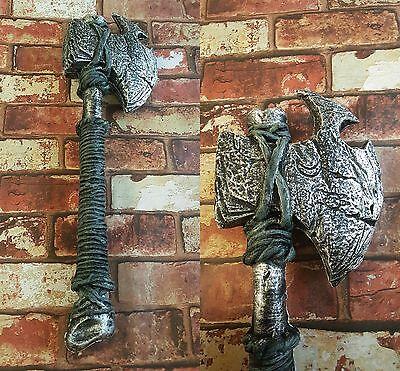 Halloween Costume Barbarian Bone Axe Foam Fantasy Medieval Viking LARP CosPlay