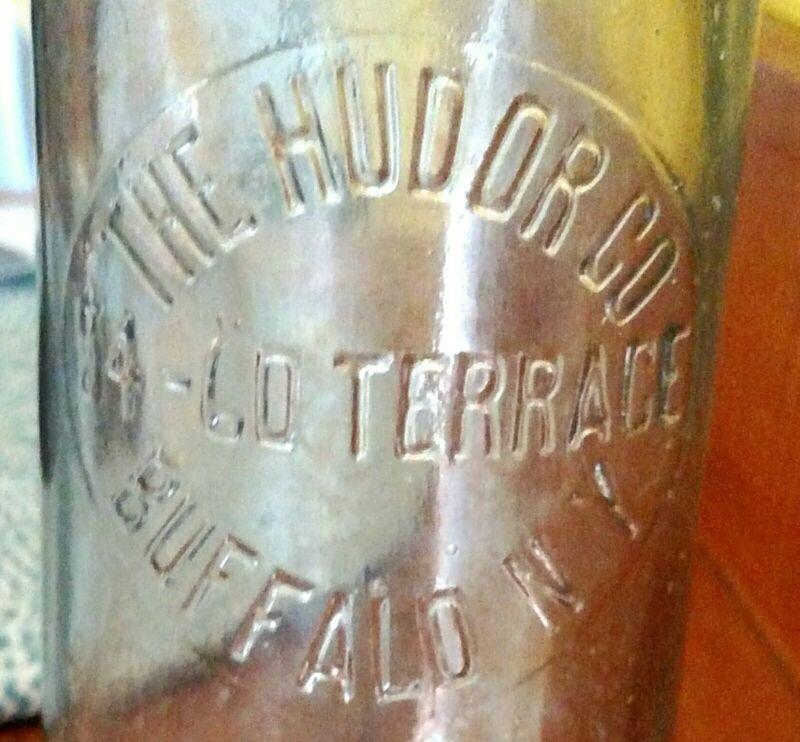 HUDOR WATER CO. bottle Buffalo, NY New York 54-60 Terrace 1800s ONLY ONE ON EBAY