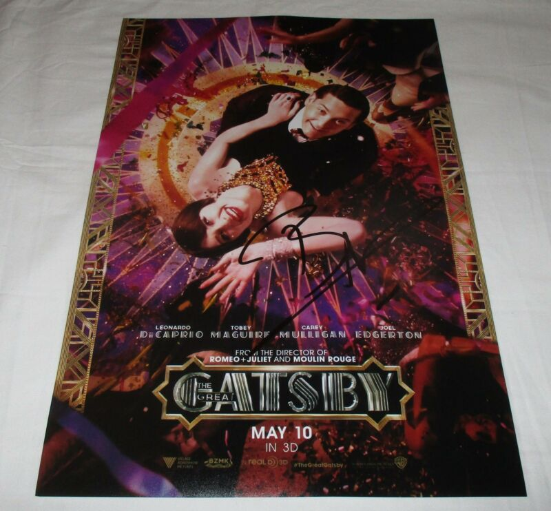 BAZ LUHRMANN SIGNED THE GREAT GATSBY 12X18 MOVIE POSTER
