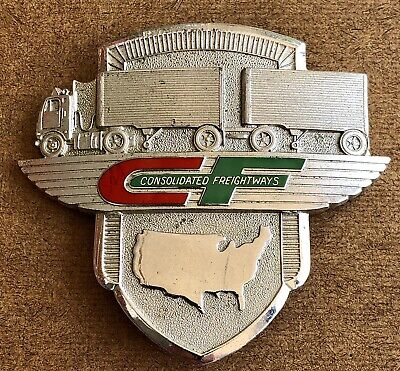 Vintage Consolidated Freightways Hat Badge Trucking