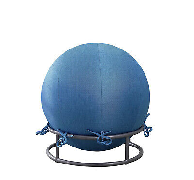 Posture Ball Chair - Premium Posture Denim Covered Exercise Yoga Ball & Chair Set - Assorted Colors