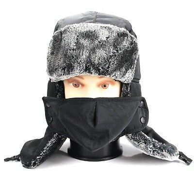 e507cde2e9afd Trapper Bomber Aviator Russian Trooper Fur Winter Ski Hat Men Women Mask  Ushanka