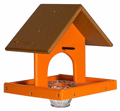 ORIOLE BIRD FEEDER with Tray, Jelly Jar- Custom Poly Colors USA
