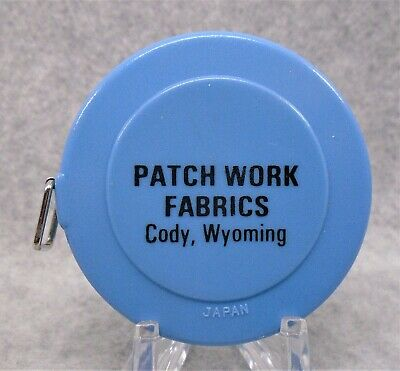 Vintage Patch Work Fabrics Cody Wyoming Advertising Tape Measure Ruler LQQK