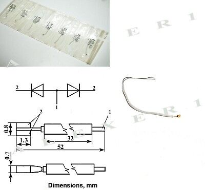 2A609B Silicon Multiplier Diode 1W 150-370GHz USSR Lot of 1pcs