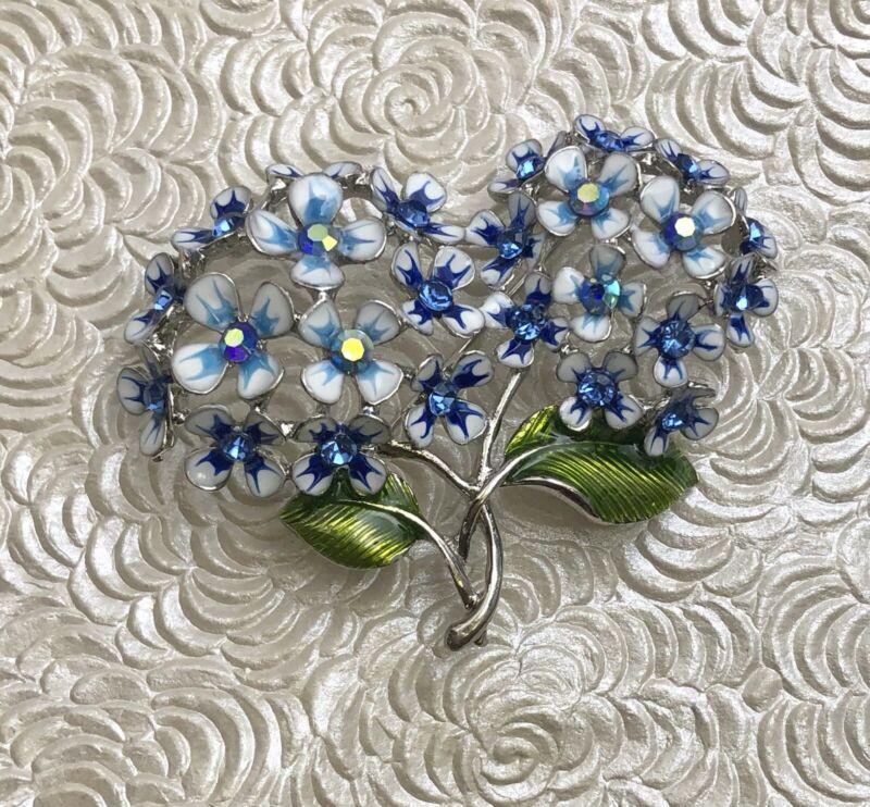 Vintage style flower  Brooch Pin enamel on metal