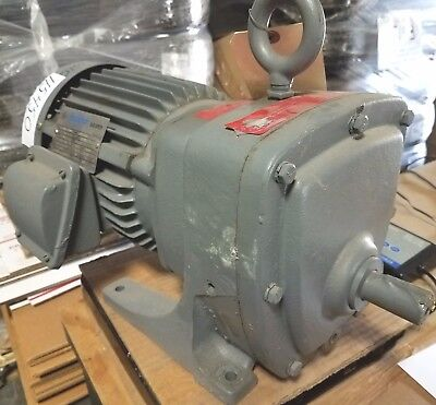 New Sterling 34 Hp 3 Phase Slow Speed Gear Motor  0159-495-639 20.921 Ratio
