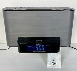 SONY ICF-CS10iP Clock Radio AM/FM iPod/iPhone Speaker Dock w/8-Pin Adapter