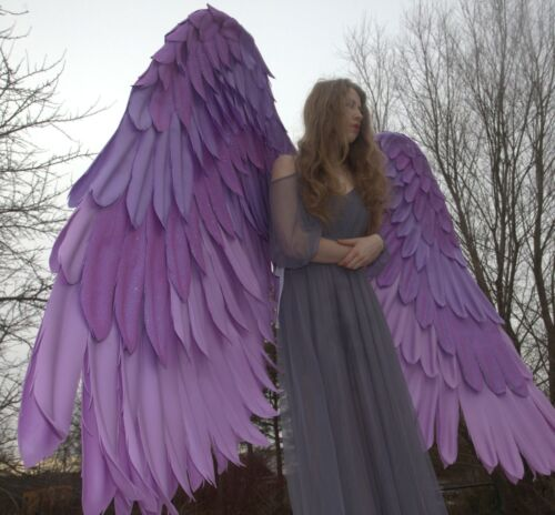 Large movable lilac/purple wings Twighlight Cosplay Costume/giant sexy wings