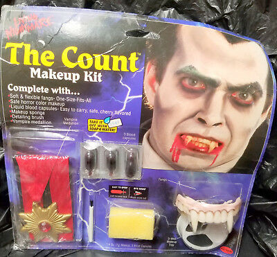 VAMPIRE MAKEUP KIT Costume Party Halloween MEDALLION BLOOD Bangs Face Paiting NW
