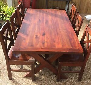 """6 seater """"Havana"""" hardwood dining setting. Connewarre Geelong City Preview"""