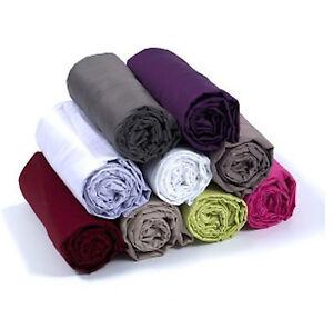 Drap housse 3 tailles coton percale flanelle for Taille drap housse