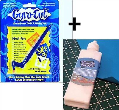 1 X Gyro-Cut und ein Schneidematte Klebstoff Spraymount Schwenke Messer Basteln (Stoff Schneidematte)