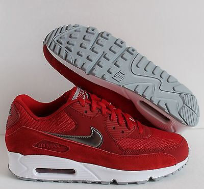 official photos 74ef9 1d261 ... Size UPC 091203100666 product image for Nike Air Max 90 Essential Gym  Red-metallic Pewter-