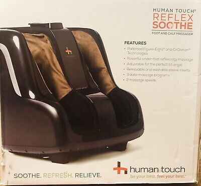 HUMAN TOUCH Reflex Soothe Foot and Calf Massager in Black/Brown