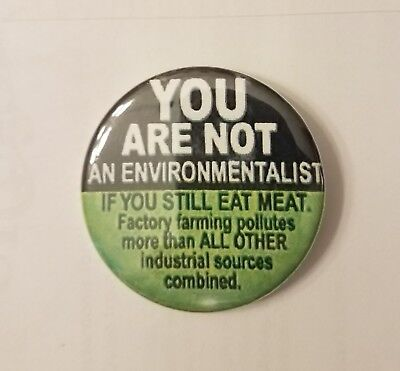 Vegan Environmentalist Button 2.25