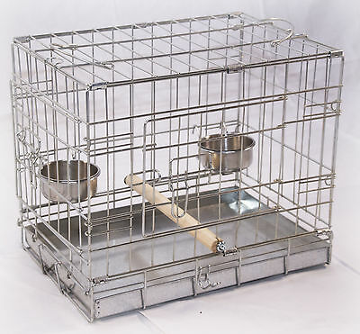 BIRD / PARROT / BUDGIE CARRIER / TRANSPORTER CAGE SMALL MEDIUM & LARGE AVAILABLE