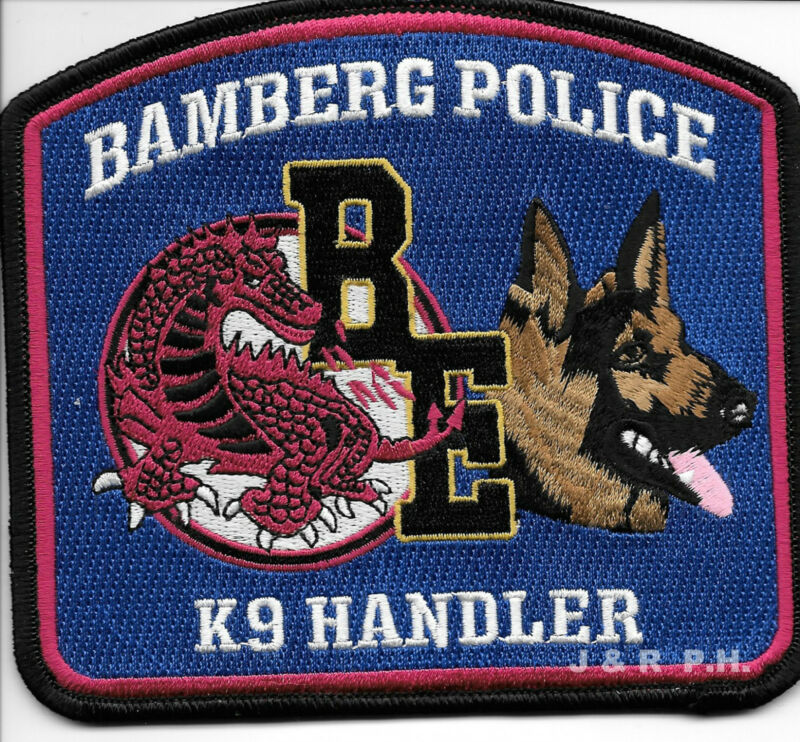"Bamberg  K-9 Handler, South Carolina  (5"" x 4.5"") shoulder police patch (fire)"