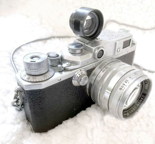 Canon II-F 35mm Rangefinder Camera w/Lens in working condition
