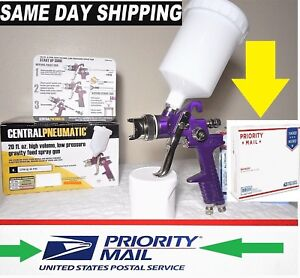 HVLP PAINT GUN 1.4 TIP 6 cfm BY: CENTRAL PNEUMATIC w/SAME DAY SHIP 3 DAY DEL.