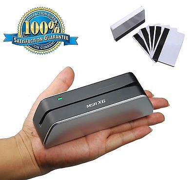 Mini Msr X6 Smallest Usb Magnetic Stripe Credit Card Reader Writer Encoder 3 Tk