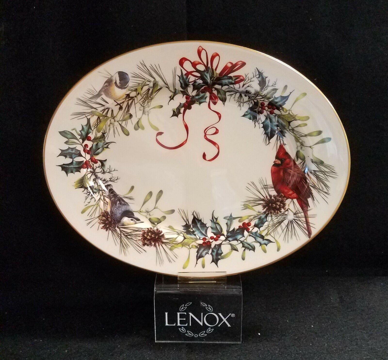 LENOX WINTER GREETING Oval Platter 13  - $149.95