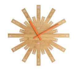 Alessi - MDL05 Raggiante - Wall clock in bamboo wood. 48cm Diameter