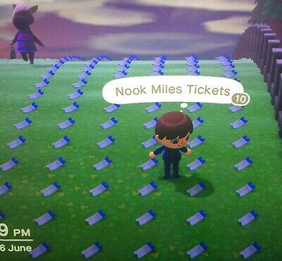 Animal Crossing New Horizons   400 Nook Miles Tickets!