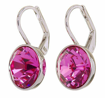 (Swarovski Elements Crystal Rose Bella Mini Pierced Earrings Rhodium Plated 7174z)
