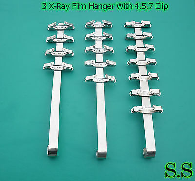 3 Pieces Dental X-ray Film Hanger With 4 Clip 5 Clip 7 Clip Dental Supply