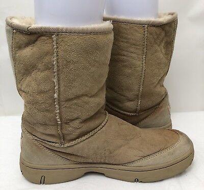Womens UGG 5275 Chestnut Brown Sheepskin Suede Ultimate Short Boots SIZE 9 EU 40 for sale  Meridian