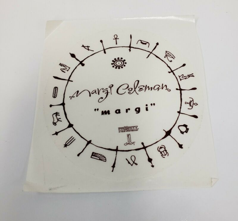 "Margi Coleman-""Margi"" Promo Sticker Funk Soul Priority"