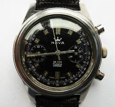 Superb Gents Nava 200M DIVE Chronograph SS LAN 248 Watch Serviced Warranty