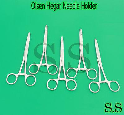 Total Of Five Olsen Hegar Needle Holder With Scissor 6.5