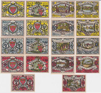 9 Banknoten Notgeld Stadt Warin ohne Datum (1921) (118497)