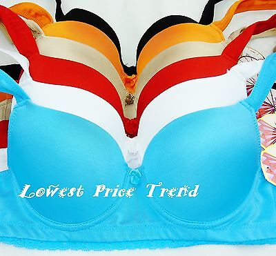 Pack of 6 Bras 32A34A36A32B32D42D44D46D32DD34DD40DD42DD46DD,DDD,34-46 F BR9842