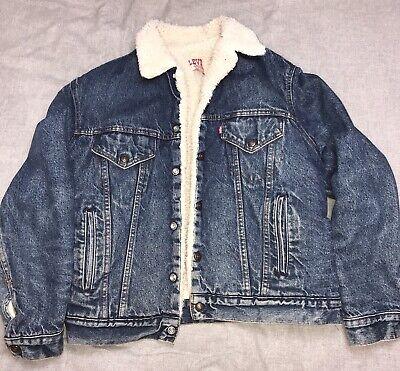 Men's Vintage Levi's Denim Fur Lined Stonewashed Jacket