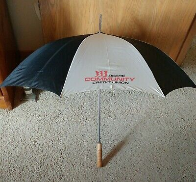 Vintage/Collectible Advertising John Deere Credit Union Golf Umbrella-46""