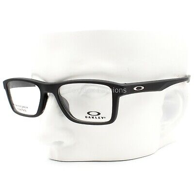 Oakley OX 8108-0151 Fin Box Eyeglasses Glasses Satin Black 51-18-135 w/Case