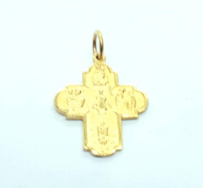 22ct Yellow Gold Cross With Catholic Symbols 46g Unisex Jewellery