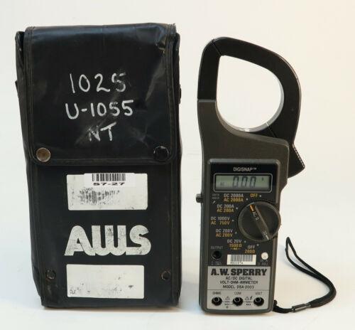 AW Sperry DSA-2003 AC/DC Digital Volt-Ohm Ammeter