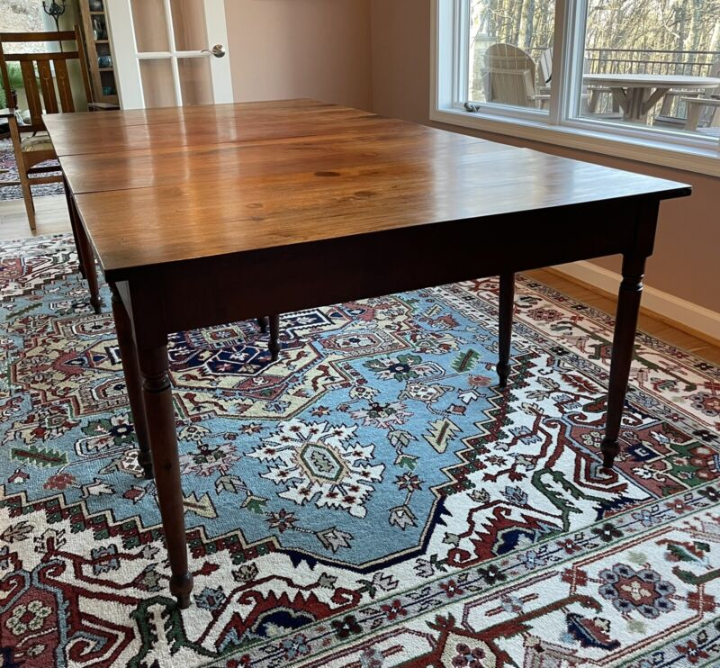 RARE Antique 1840 Shenandoah Valley Dining Table