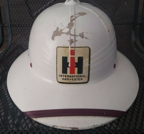 Vintage International Harvester Hardhat Hat Advertising