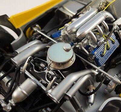 Renault Engine Motor In Gp F 1 Race Car W  Formula Sport Wheels Vintage Indy 500